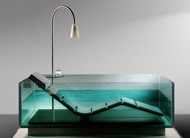 Badekar glass
