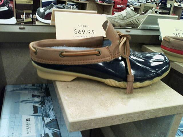 Ubrukelig sko