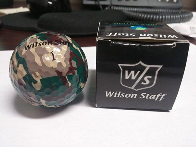 ubrukelig golfball