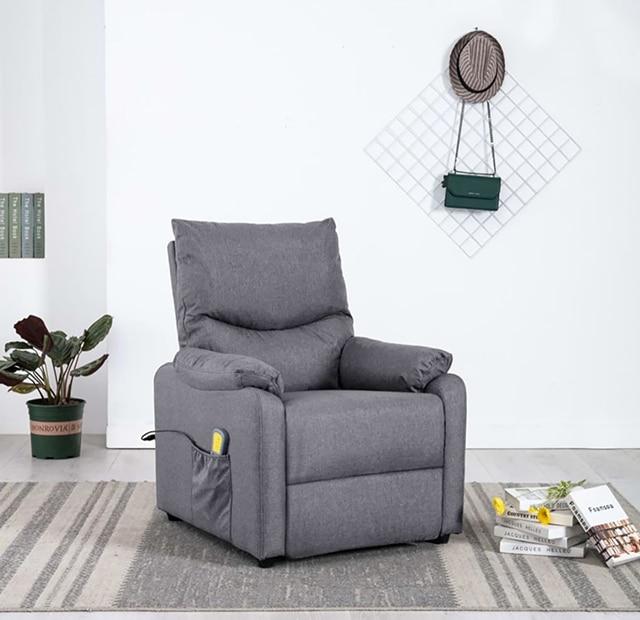 massasjetstol stue grå