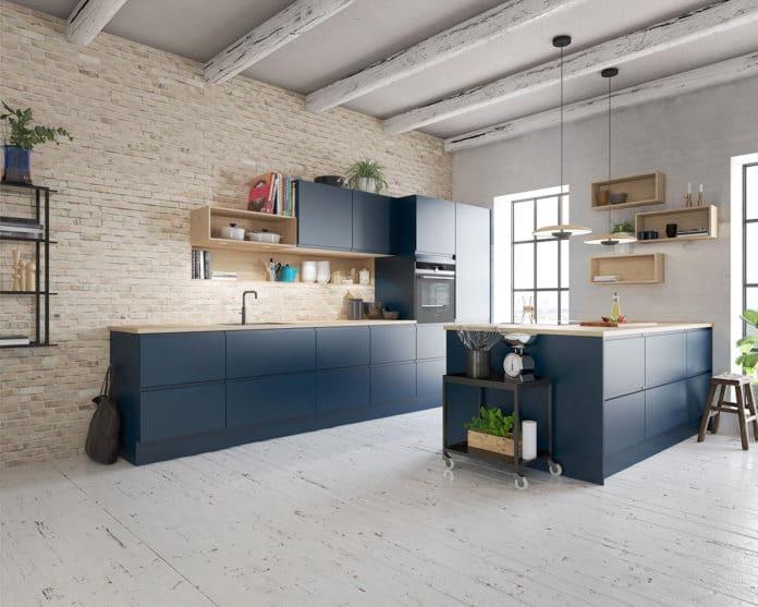 blått kjøkken hovedbilde
