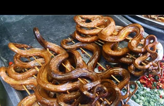 grillede slanger